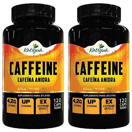 Caffeine (Cafeína Anidra) - 2 unidades de 120 Cápsulas - Katigua Sport