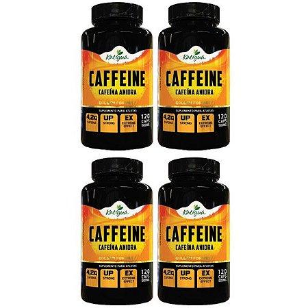 Caffeine (Cafeína Anidra) - 4 unidades de 120 Cápsulas - Katigua Sport