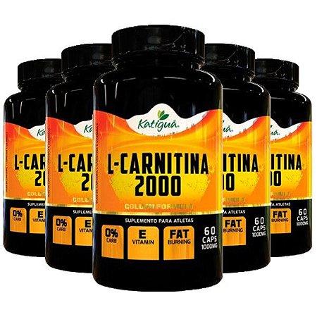 Kit L-Carnitina 2000 Suplemento Para Aletas Katigua 300 Cápsulas