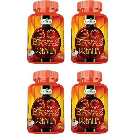 Chá 30 Ervas Premium - 4 unidades de 120 cápsulas - Katigua