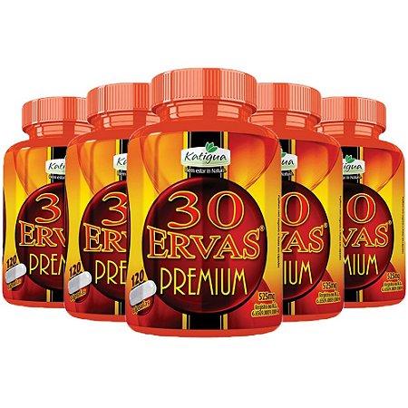 Kit Chá 30 Ervas Premium Katigua 600 Cápsulas