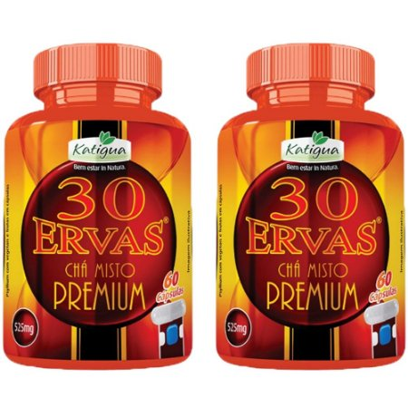 Kit Chá 30 Ervas Premium Katigua 120 Cápsulas