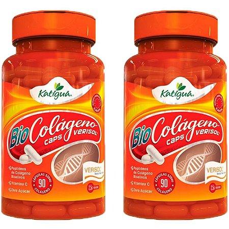 Kit Colágeno Verisol Com Vitamina C Katigua 180 Cápsulas
