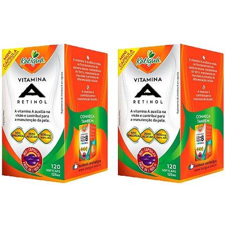 Vitamina A Retinol - 2 unidades de 120 Cápsulas - Katigua