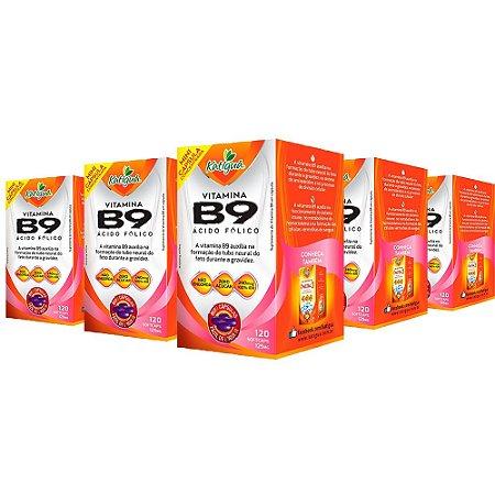 Vitamina B9 Ácido Fólico - 5 unidades de 120 Cápsulas - Katigua