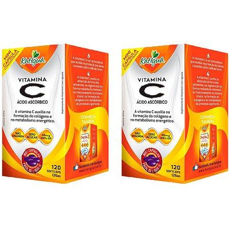 Vitamina C Ácido Ascórbico - 2 unidades de 120 Cápsulas - Katigua