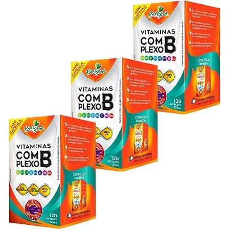 Vitaminas do Complexo B - 3 unidades de 120 Cápsulas - Katigua