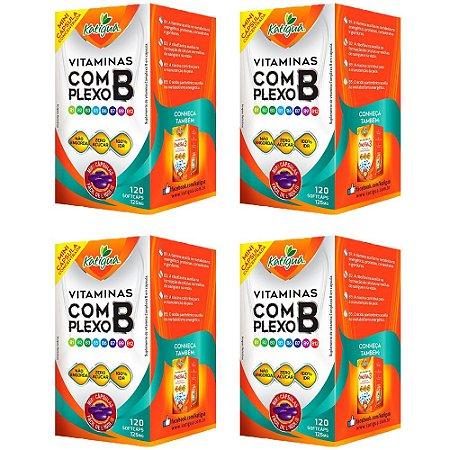 Vitaminas do Complexo B - 4 unidades de 120 Cápsulas - Katigua