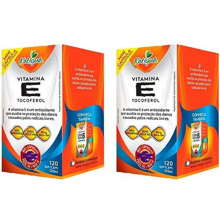 Vitamina E Tocoferol - 2 unidades de 120 Cápsulas - Katigua
