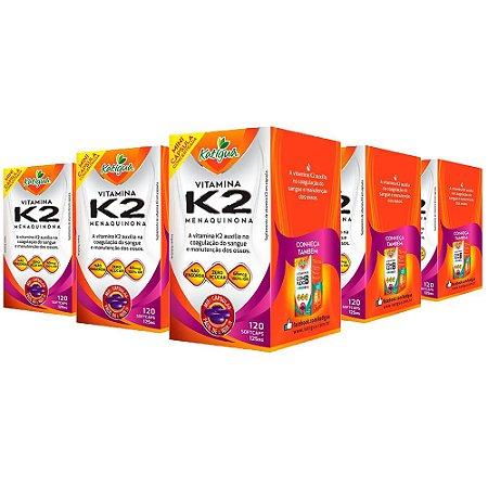 Vitamina K2 Menaquinona - 5 unidades de 120 Cápsulas - Katigua