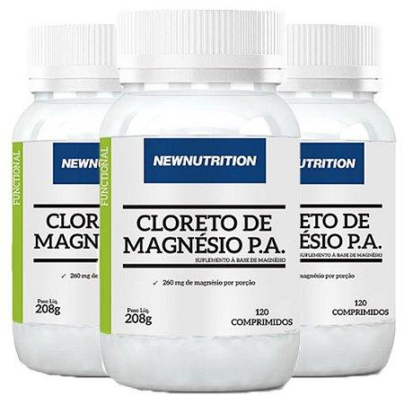 Kit Cloreto de Magnésio P.A. NewNutrition 360 Comprimidos
