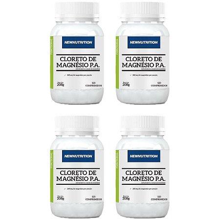 Kit Cloreto de Magnésio P.A. NewNutrition 480 Comprimidos