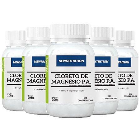 Kit Cloreto de Magnésio P.A. NewNutrition 600 Comprimidos