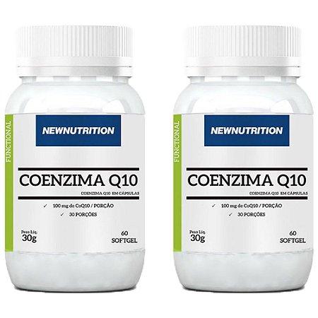 Coenzima Q10 100mg - 2 unidades de 60 Cápsulas - NewNutrition