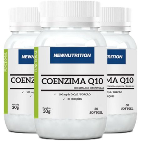 Coenzima Q10 100mg - 3 unidades de 60 Cápsulas - NewNutrition