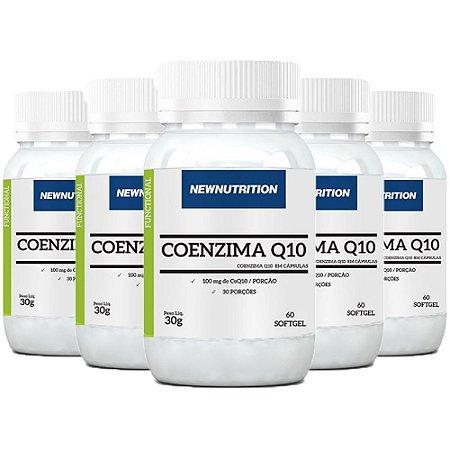 Coenzima Q10 100mg - 5 unidades de 60 Cápsulas - NewNutrition