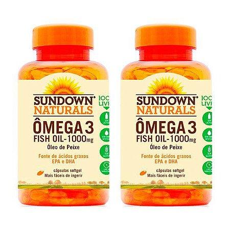 Ômega 3 Fish Oil - 2x 60 Cápsulas - Sundown