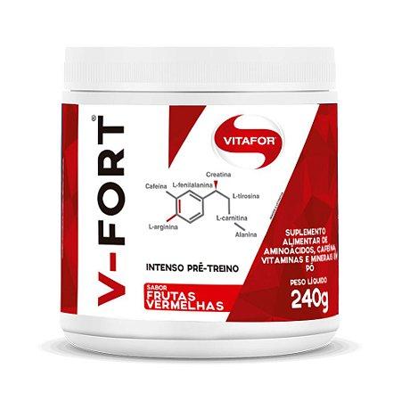 Pré-treino V-Fort - 240 Gramas - Vitafor