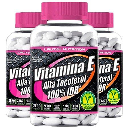 Vitamina E (Alfa Tocoferol) - 3 unidades de 120 Tabletes - Lauton