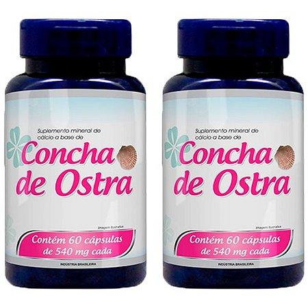 Cálcio a base de Concha de Ostra - 2 unidades de 60 Cápsulas - Promel