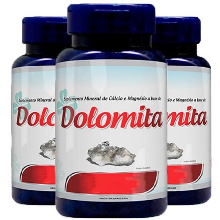 Dolomita (Cálcio e Magnésio) - 3 unidades de 120 Cápsulas - Promel