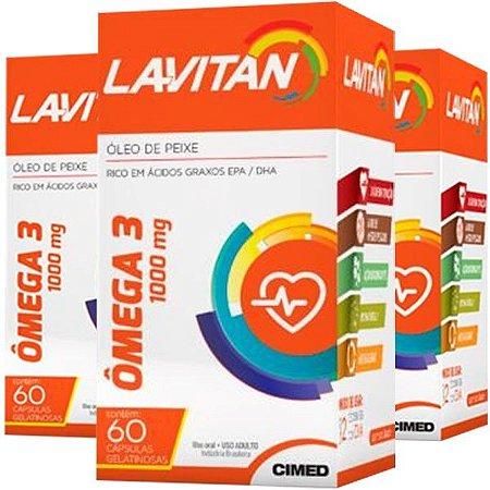 Ômega 3 Lavitan - 3 unidades de 60 Cápsulas - Cimed