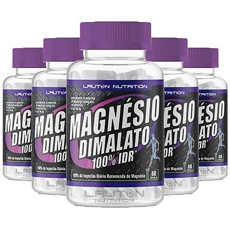 Magnésio Dimalato - 5 unidades de 60 Cápsulas - Lauton