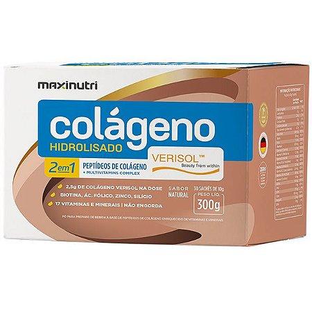 Colágeno Hidrolisado 2 em 1 Verisol Maxinutri 30 sachês 10g