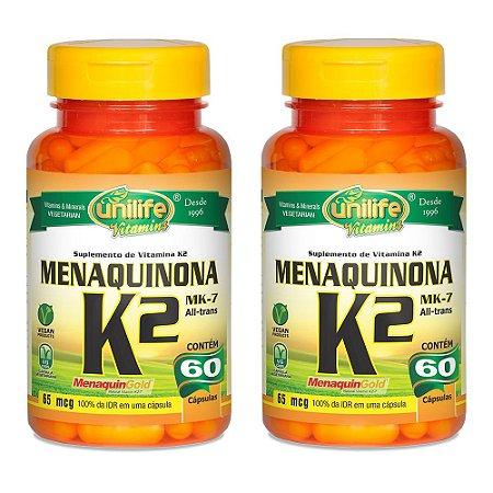 KitVitamina K2 Menaquinona Unilife 100% IDR 120 Cápsulas
