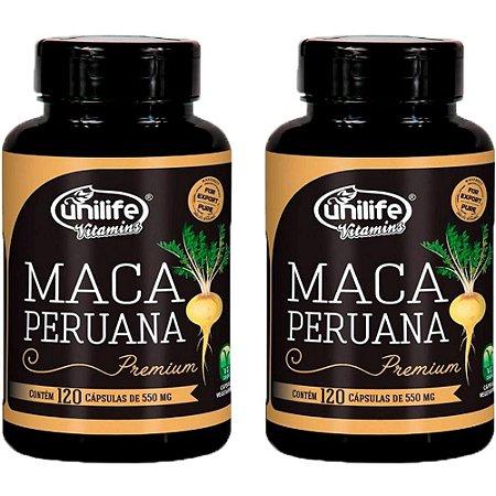 Kit Maca Peruana Premium Em Cápsulas Unilife 240 Cáps