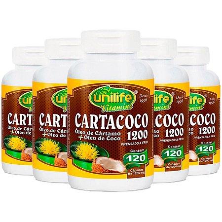 Kit Óleo De Cártamo e Coco 1200mg Ômega 6 Unilife 600 Cáps
