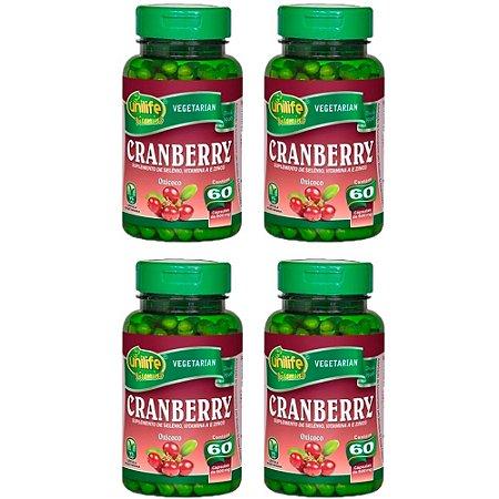 Cranberry - 4 unidades de 60 cápsulas - Unilife