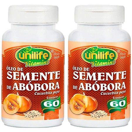 Kit Óleo De Semente De Abóbora Unilife Antioxidante 120 Cáps