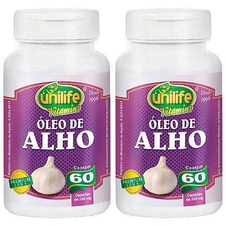 Óleo de Alho - 2 unidades de 60 Cápsulas - Unilife