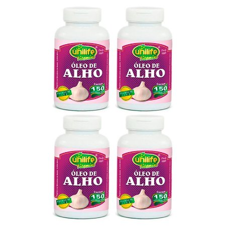 Óleo de Alho - 4 unidades de 150 Cápsulas - Unilife