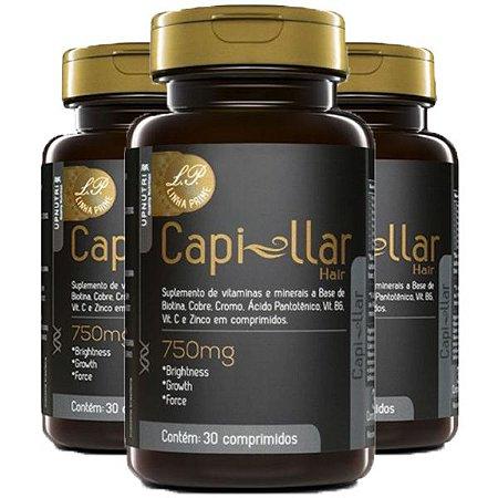 Capi-llar Hair - 3 unidades de 30 Comprimidos - Upnutri Prime