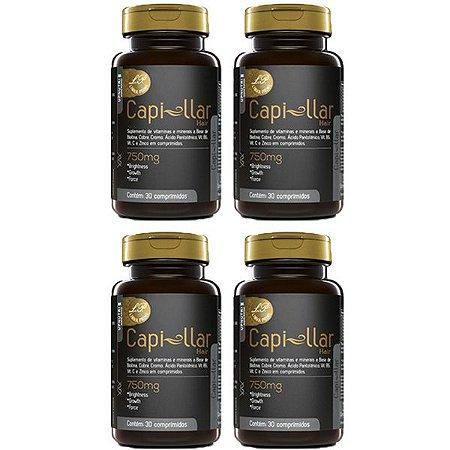 Capi-llar Hair - 4 unidades de 30 Comprimidos - Upnutri Prime