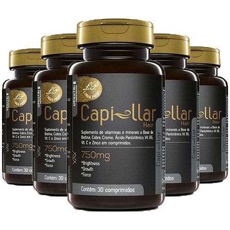 Capi-llar Hair - 5 unidades de 30 Comprimidos - Upnutri Prime