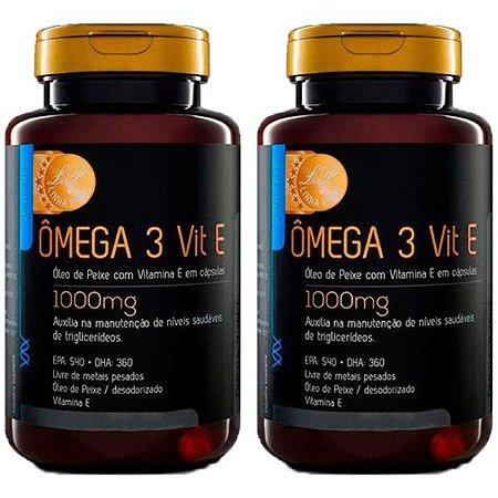 Ômega 3 com Vitamina E - 2 unidades de 120 Cápsulas - Upnutri Prime