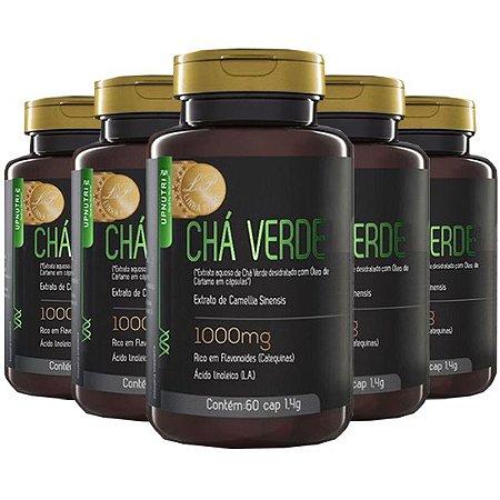 Chá Verde e Óleo de Cártamo - 5 unidades de 60 Cápsulas - Upnutri Prime