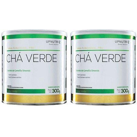 Chá Verde Solúvel Limão - 2 unidades de 300 Gramas - Upnutri Funcional