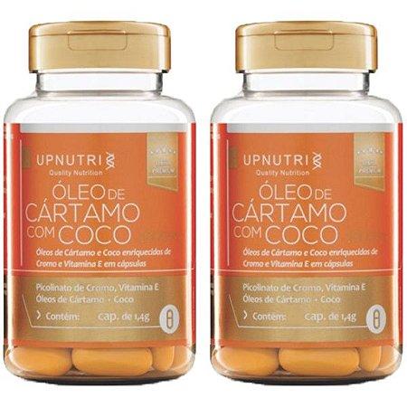 Óleo de Cártamo com Coco - 2 unidades de 120 Cápsulas - Upnutri Premium