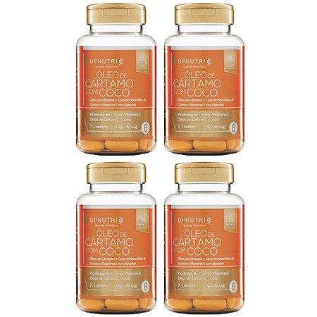 Óleo de Cártamo com Coco - 4 unidades de 120 Cápsulas - Upnutri Premium
