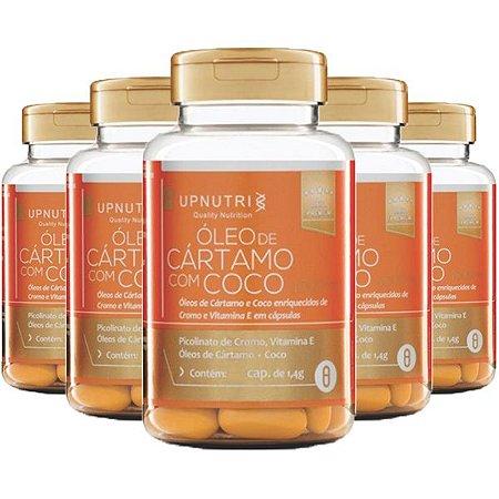 Óleo de Cártamo com Coco - 5 unidades de 120 Cápsulas - Upnutri Premium