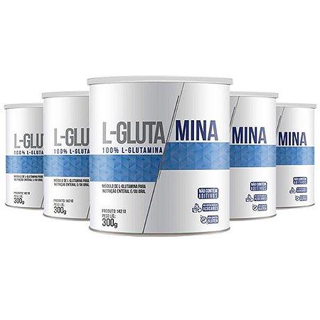 L-Glutamina - 5 unidades de 300 Gramas - Clinic Mais