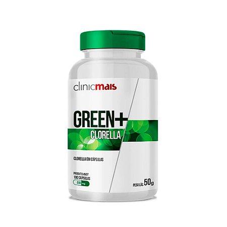 Green+ Clorella - 100 Cápsulas - Clinic Mais