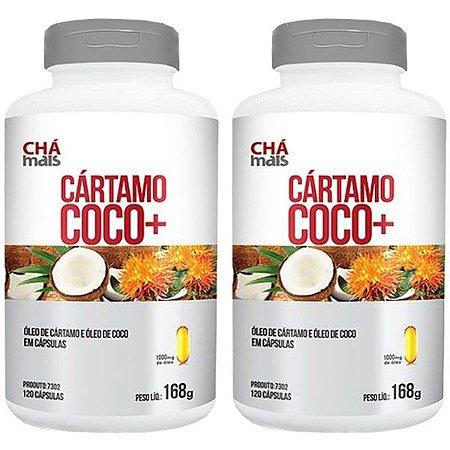 Kit Óleo de Cártamo + Coco ClinicMais Emagrecedor 240 Cáps