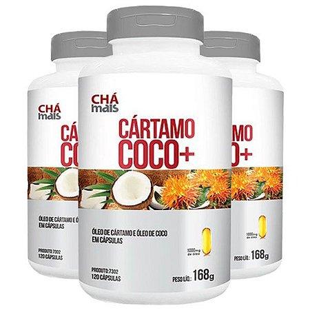 Cártamo + Coco - 3 unidades de 120 Cápsulas - Clinic Mais