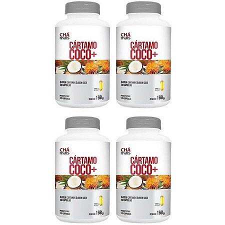 Cártamo + Coco - 4 unidades de 120 Cápsulas - Clinic Mais
