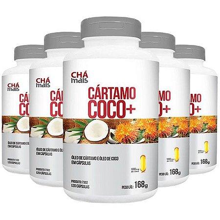 Kit Óleo de Cártamo + Coco ClinicMais Emagrecedor 600 Cáps